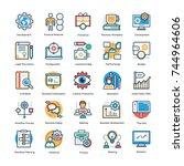 management icons set   | Shutterstock .eps vector #744964606