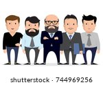 business team   group... | Shutterstock .eps vector #744969256