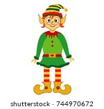 elf cartoon | Shutterstock .eps vector #744970672