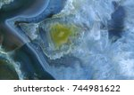 agate geode filled with quartz... | Shutterstock . vector #744981622