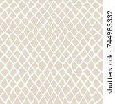 vector tie dye seamless pattern.... | Shutterstock .eps vector #744983332