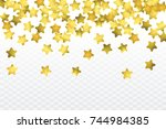 Star Confetti Isolated On...