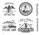 set of mountain bikings clubs.... | Shutterstock .eps vector #744999706