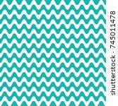 turquoise vector seamless wavy... | Shutterstock .eps vector #745011478
