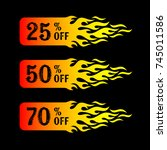 hot sale 25 50 70 percent off... | Shutterstock .eps vector #745011586