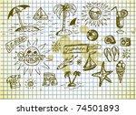 summer relax icons   Shutterstock .eps vector #74501893