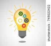 vector illustration abstract... | Shutterstock .eps vector #745022422