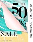 vertical sale advertisement... | Shutterstock .eps vector #745023442