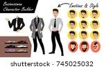 businessman character builder   ... | Shutterstock .eps vector #745025032