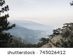 nature landscape mountain in... | Shutterstock . vector #745026412