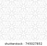 seamless linear pattern with... | Shutterstock .eps vector #745027852