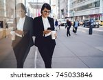 smiling businesswoman in formal