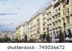 thessaloniki  greece   march 26 ...   Shutterstock . vector #745036672