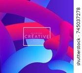 abstract 3d liquid fluid color... | Shutterstock .eps vector #745037278