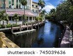 canal in las olas florida   Shutterstock . vector #745039636