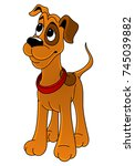 cartoon hunting dog. | Shutterstock .eps vector #745039882