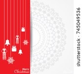 illustration of christmas... | Shutterstock .eps vector #745049536