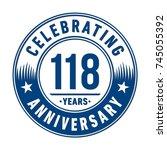 118 years anniversary logo...