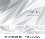fractal abstract background.... | Shutterstock .eps vector #745066402