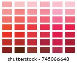 red color palette vector... | Shutterstock .eps vector #745066648