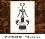 wine list design. vector...   Shutterstock .eps vector #745066738