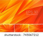 fractal abstract background.... | Shutterstock .eps vector #745067212