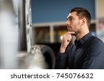 business  maintenance and... | Shutterstock . vector #745076632