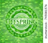 offspring green emblem with... | Shutterstock .eps vector #745081576