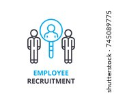 eployee recruitment concept  ... | Shutterstock .eps vector #745089775