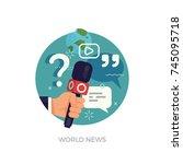 vector round design element on... | Shutterstock .eps vector #745095718