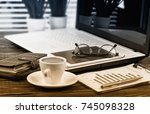 business accounting  | Shutterstock . vector #745098328