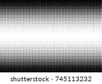 halftone fade gradient... | Shutterstock .eps vector #745113232