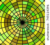 Abstract Vector Stained Glass...