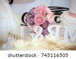 wedding decorations  wedding... | Shutterstock . vector #745116505