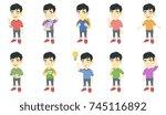 little asian boy set. boy...   Shutterstock .eps vector #745116892