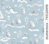 vector illustration. christmas... | Shutterstock .eps vector #745120498