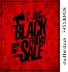 black friday sale poster design ... | Shutterstock .eps vector #745130428