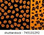 hallowen still life concet ... | Shutterstock . vector #745131292