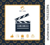 clapperboard icon | Shutterstock .eps vector #745132396