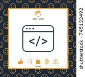 code editor icon | Shutterstock .eps vector #745132492