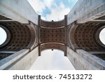 view of the triumphal arch from ... | Shutterstock . vector #74513272