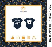 baby rompers icon   Shutterstock .eps vector #745134082