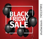 black friday sale gold... | Shutterstock .eps vector #745137892