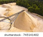 Aerial View Of Sandpit And...