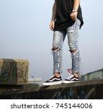milan  italy   september 28 ...   Shutterstock . vector #745144006