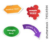 vector sticker for your sample... | Shutterstock .eps vector #74514544
