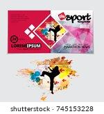 sport magazine cover vector... | Shutterstock .eps vector #745153228