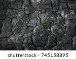 Texture Of Burned Wood. Close...