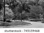 nature walk pathway. path down... | Shutterstock . vector #745159468