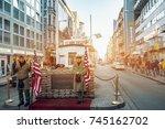 berlin  germany   january 22 ...   Shutterstock . vector #745162702